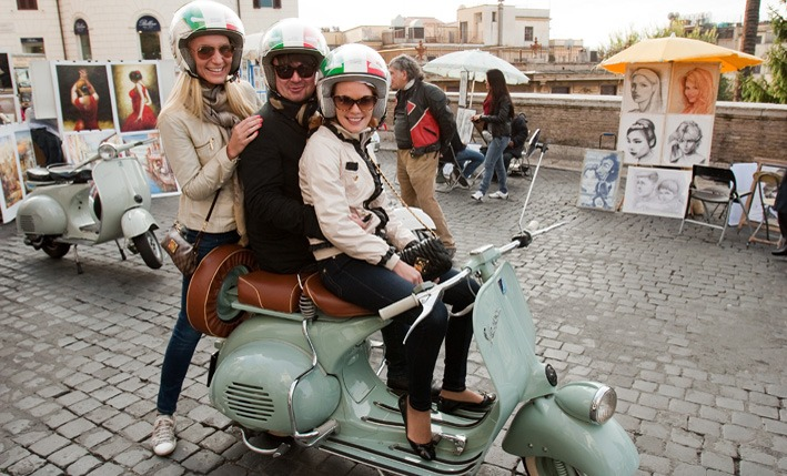 """Roman Holiday on a Vintage Vespa"""